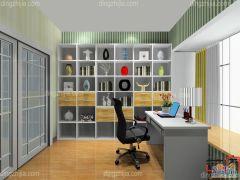 卡诺亚超大容量书房,定制加厚环保书柜,电脑桌,椅子