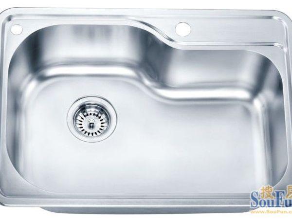 达威尔水槽 SUS304不锈钢单 拉丝 套餐含龙头CH388