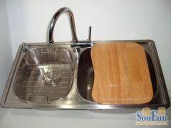 中美合资--达威尔水槽 双槽 套餐 柔丝SUS304不锈钢