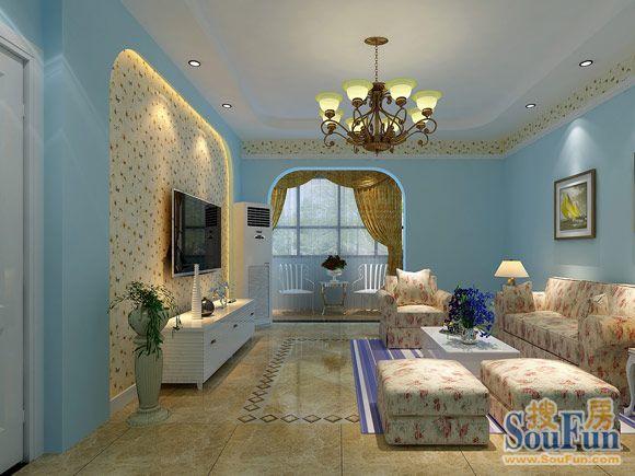 地中海-100平米二居室-装修样板间