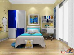 卡诺亚缤纷童年青少年房,电脑桌椅,定制衣柜,床头柜,儿童墙纸