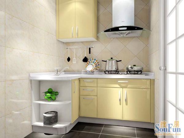 尚品宅配法式风格整体橱柜,芝士物语厨房定制橱柜