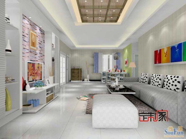 卡诺亚现代简约客餐厅,电视柜,背景墙,抽屉组合柜,茶几,沙发