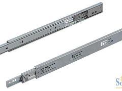 海福乐45mm宽自闭阻尼三节轨滑轨