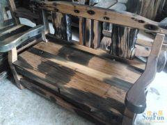 老船木 船木双人沙发