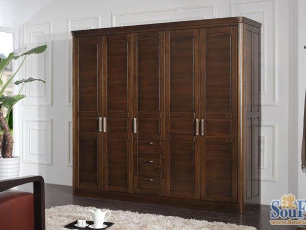 胡桃木衣柜!简约 时尚 现代中式家具