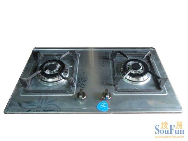 惠尔圣高档钢板燃气灶 不锈钢板双炉 双眼燃气灶 铜火盖