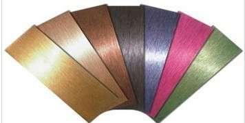 奥思博雅304 不锈钢拉丝装饰板材 酒店古铜色拉丝板 拉丝板
