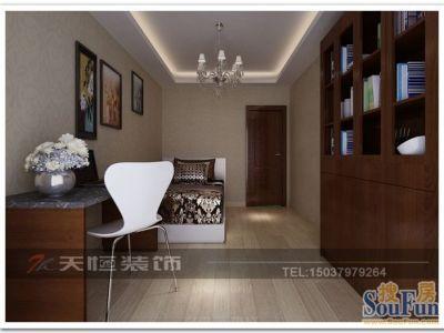 现代简约-134平米三居室装修样板间