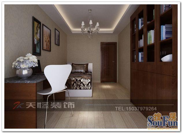 现代简约-134平米三居室-装修样板间