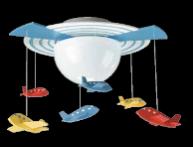 飞利浦飞利浦童趣系列灯具太空船吸顶灯