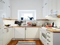 可邦亚光烤漆橱柜 实木台面 北欧风格