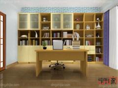 卡诺亚现代简约整体书房,环保加厚书柜陈列柜,办公电脑桌椅