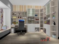 卡诺亚现代简约整体书房,定制书柜,组合电脑桌椅,书架