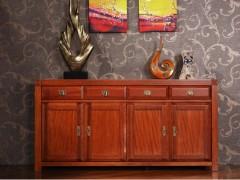 喜得屋家具 欧式全实木餐边柜 海棠木储物柜 SX5502