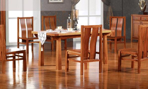 喜得屋 现代中式 海棠木餐桌 长方形餐桌 SX6101