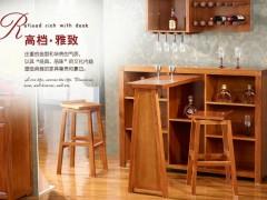 喜得屋 海棠木 实木吧台椅 吧柜 欧式简约酒柜 SX6501