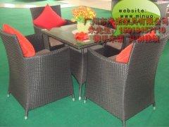 2012年 编藤桌椅 仿藤桌椅 休闲桌椅 户外桌椅 米诺家具