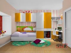 卡诺亚现代青少年房,环保整体衣柜,电脑桌,床,书架001