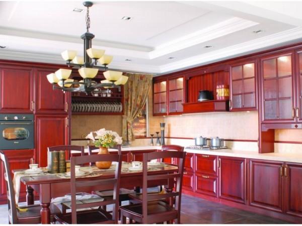 书香古韵--花梨木 志邦厨柜整体实木厨房西安大明宫红星美凯龙