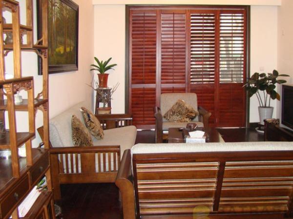 百特斯实木百叶窗客厅3 实木窗 欧式窗