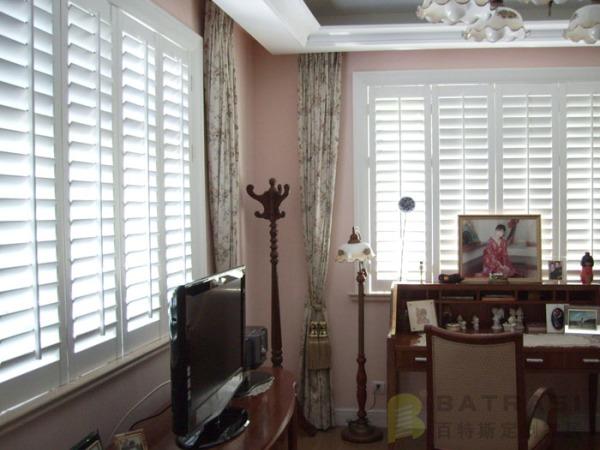 百特斯实木百叶窗卧室2 定制窗 欧式窗