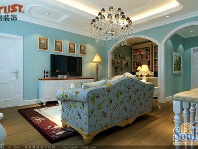 现代简约-52平米一居室装修样板间