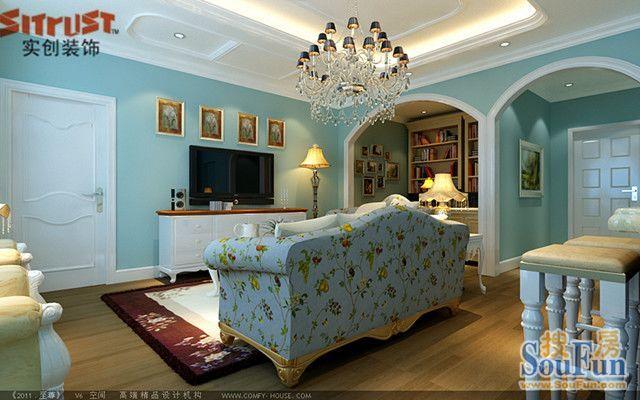 现代简约-52平米一居室-装修样板间
