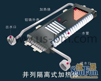 太尔变频恒温型快热式电热水器