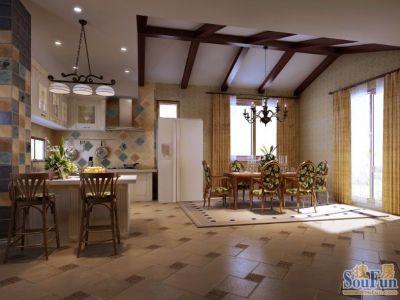 现代简约-200平米四居室装修样板间