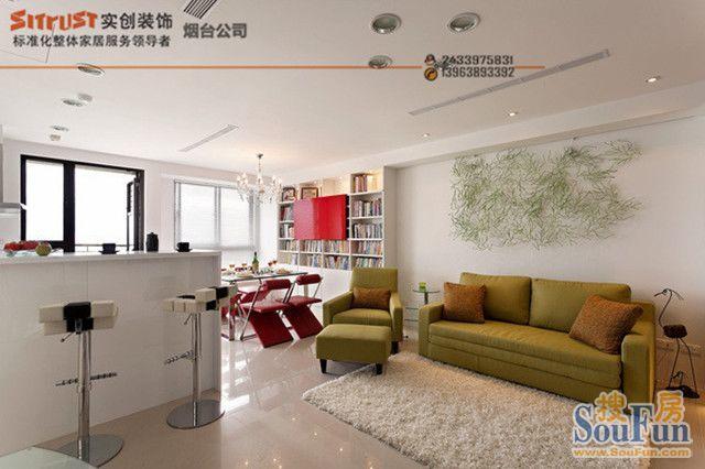 现代简约-95平米一居室-装修样板间