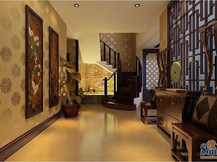 东南亚风格-405平米别墅-装修样板间