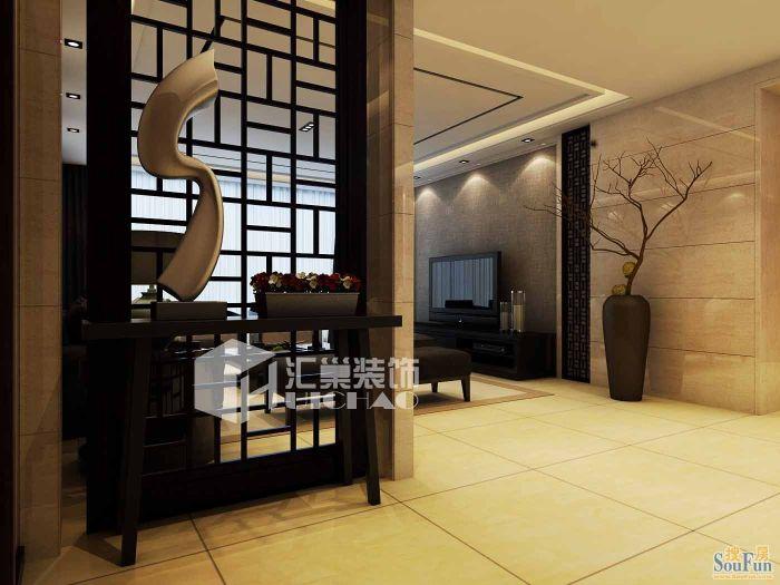 中式古典-120平米三居室-装修样板间