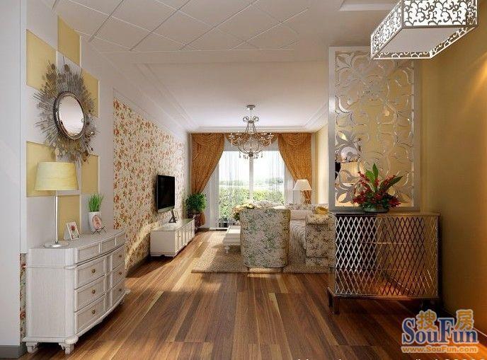 田园风格-5.8平米二居室-装修样板间