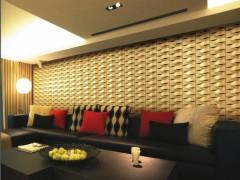 禾石-3D艺术背景墙-波浪板