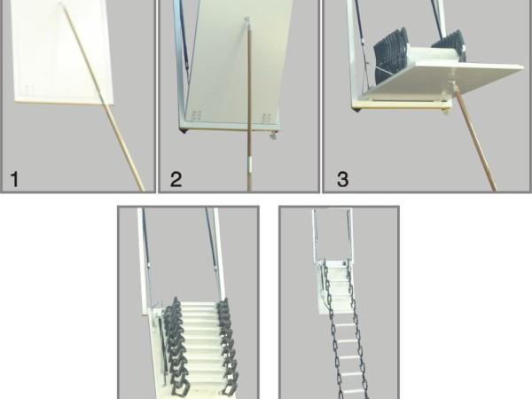 东方阁楼梯 伸缩楼梯侧装款 阁楼楼梯