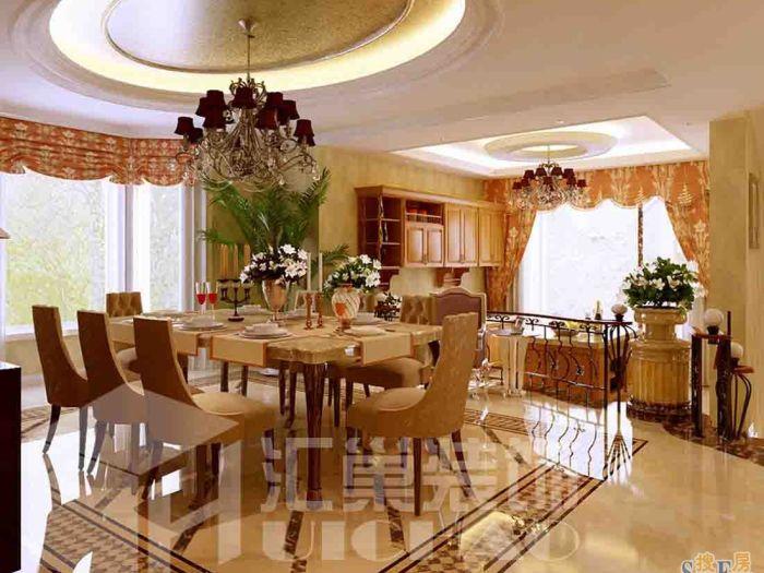 中式古典-377平米别墅-装修样板间