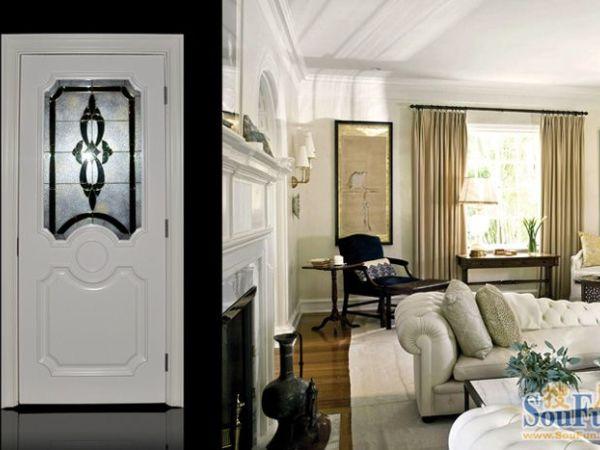 丽特ALT-117白色混油烤漆门