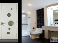 丽特ALT099白色混油实木复合套装门