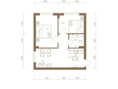 现代简约-45平米二居室装修样板间