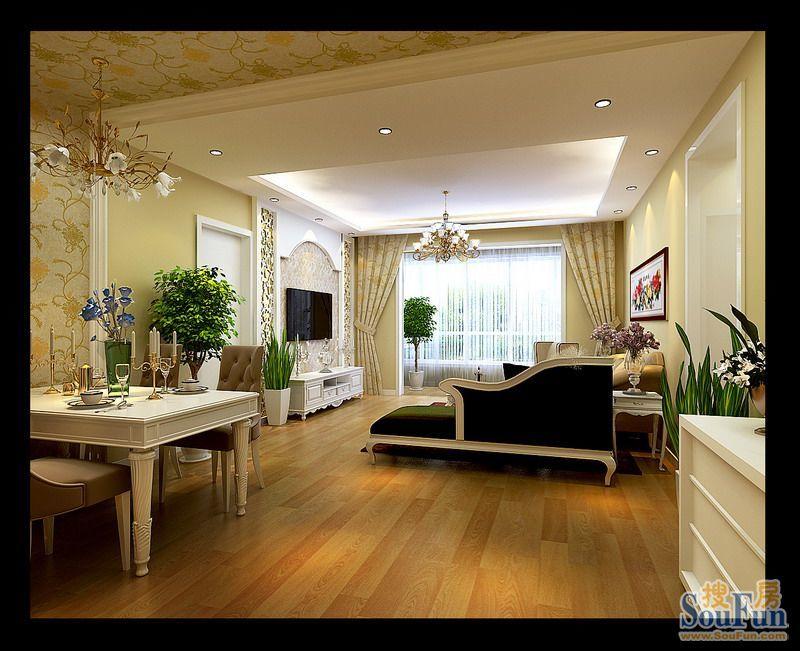 盛世名门 90平米三居室装修图片 北京装修设计高清图片