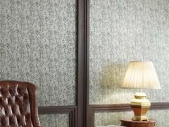 丽彩墙纸,弯曲的藤条带上小花,既拉升了空间又不显得单调