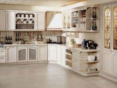 斯诺威橱柜 实木系列整体橱柜 石英石台面