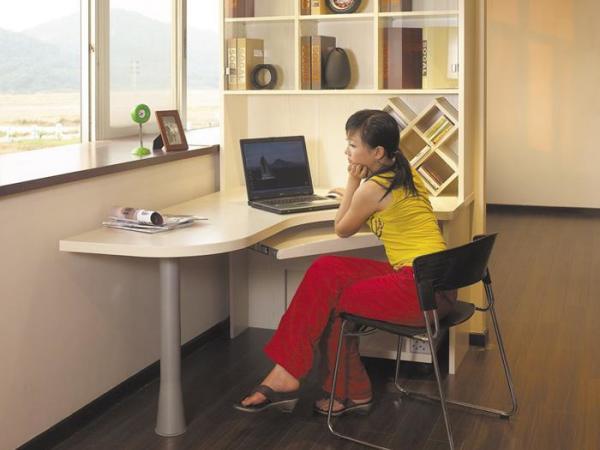 索菲亚E款电脑台书桌