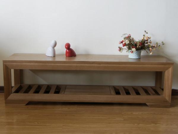 100%纯实木家具纯柞木欧式床尾凳