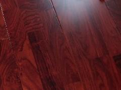 亚花梨指接实木地板(红色)