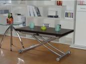 空间达人餐桌伸缩功能餐桌茶几现代简约升降旋转折叠餐桌