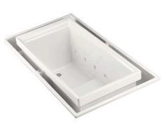 SOK 素克溢流型水疗按摩浴缸带灯(开关面向屋内出水口在右边