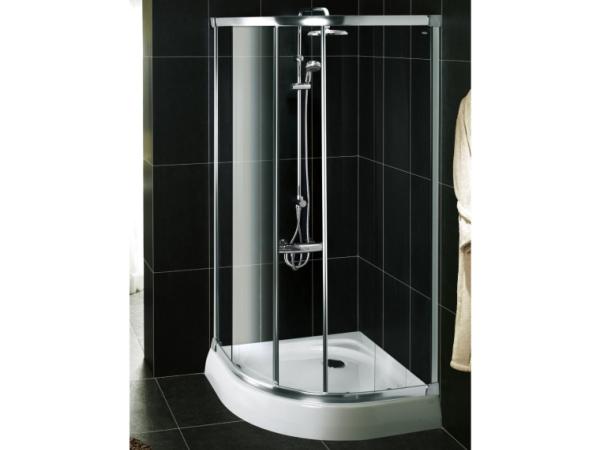 科勒 K-17116-L 纳帝奥标准圆弧型移门淋浴房(白色)