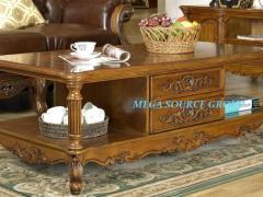 美式实木储物茶几|客厅茶桌 米高家具 外单特价